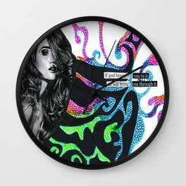 If God Brought You to it Wall Clock