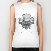 chef Biker Tanks featuring MONSTER CHEF by MostrOpi