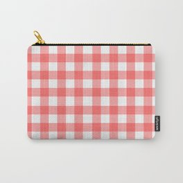 Red gingham fabric cloth, seamless pattern Carry-All Pouch