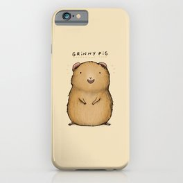 Grinny Pig iPhone Case