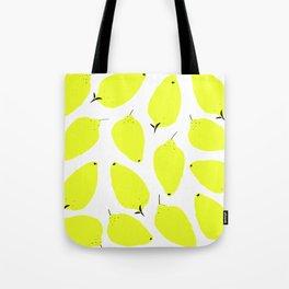 LEMONY WHITE Tote Bag
