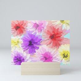 Floral Depth 2 Light Mini Art Print
