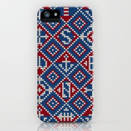 Grandma's knitting pattern for Saylor's Ugly sweater #3 iPhone Case