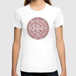 Aztec Calendar // Maroon T-Shirt