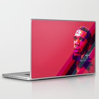 greg guillemin Laptop & iPad Skins featuring GREG ODEN MIAMI HEAT by mergedvisible