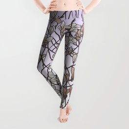 pattern of branches in pastel colors 2 (https://society6.com/totalflora/collection ) Leggings