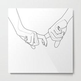 Hand in hand Metal Print