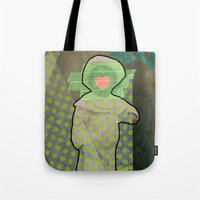cyclops Tote Bags featuring Cyclops by Naomi Vona