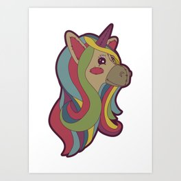 Unicorn Head! Art Print