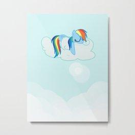 Rainbow Dash: Head in the Clouds Metal Print