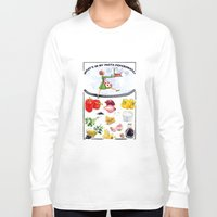 pasta Long Sleeve T-shirts featuring WHAT'S IN MY PASTA PEPERONATA? by Colette van der Wal