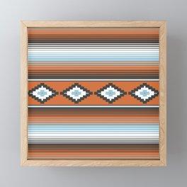 Modern Mexican Serape in Technicolor Framed Mini Art Print