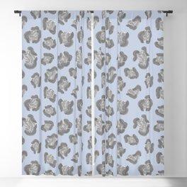 Snow Leopard Print Pattern Alt Blackout Curtain