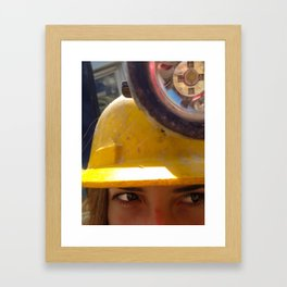 Shifty Work Framed Art Print