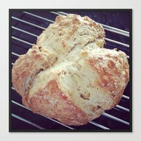 bread Canvas Prints featuring Bread by Yellow Barn Studio