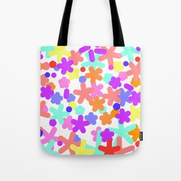 Happy pattern colorful Tote Bag
