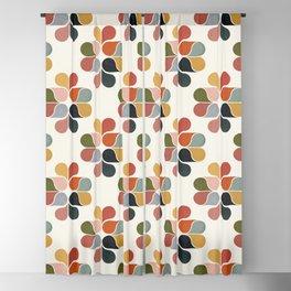 Retro geometry pattern Blackout Curtain