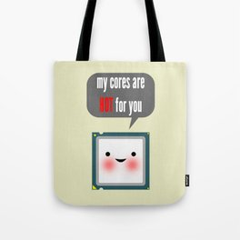 Cute blushing CPU My cores are hot for you Tote Bag