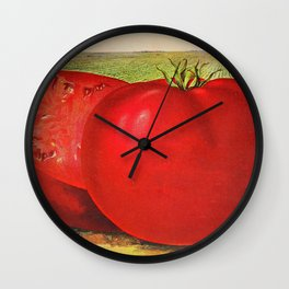 Vintage Illustration of a Beefsteak Tomato (1905) Wall Clock