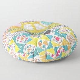 Big Yellow Taxi Floor Pillow