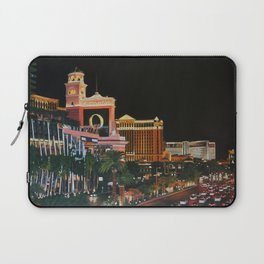 Las Vegas Strip Oil On Canvas Laptop Sleeve