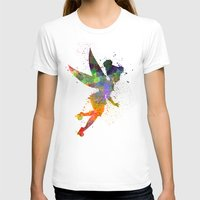 tinker bell T-shirts featuring Tinker bell in watercolor by Paulrommer