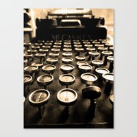 writer Canvas Prints featuring Type Writer by Alexandra Ammirato