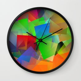 Summerday in the citypark Wall Clock