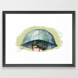 Archie's Umbrella Hat - Archie of Outlandish Framed Art Print
