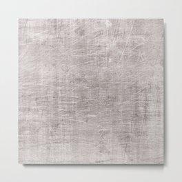 Grey scrateched Metal Print