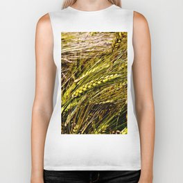 Golden Wheat Field Biker Tank