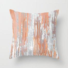 Abstract ink. Gray. metallic. orange. abstract. .minimalist. line. minimalism. lines. Throw Pillow