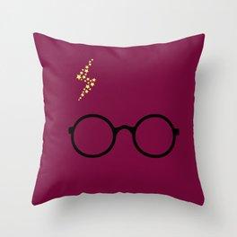 Harry - Purple Throw Pillow