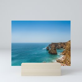 Beach at Lagoa, Algarve, Portugal Mini Art Print