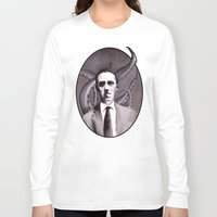 cthulu Long Sleeve T-shirts featuring Shuddering At The Nameless Things by Zombie Rust