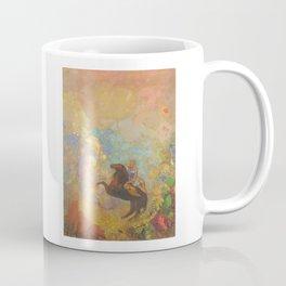 Muse on Pegasus - Odilon Redon Coffee Mug