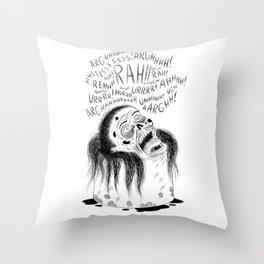 Zombie Soup Throw Pillow