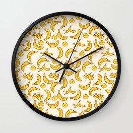 Yellow Banana Pattern Wall Clock