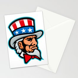 Uncle Sam Mascot Stationery Cards