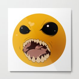 Halloween PacMan Metal Print