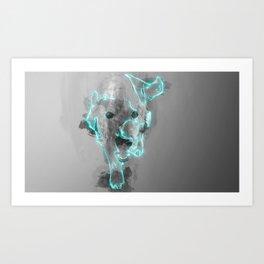 A Cute Blue dog Art Print