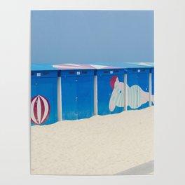 Beach cabins Poster