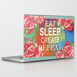 Eat Sleep Create Repeat Mixed Media Collage Laptop & iPad Skin