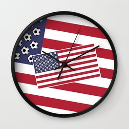 United States of Soccer Wall Clock