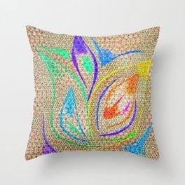Colorful Lotus flower - uma releitura Throw Pillow