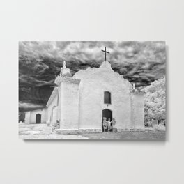 Church Black and White Metal Print
