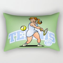 Tennis, Hit'm hard Rectangular Pillow