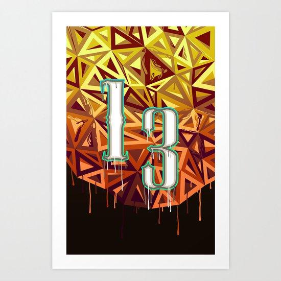 13 v2 Art Print