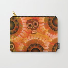 Folkloric Skulls and Flowers Carry-All Pouch
