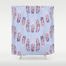 A Flock of Feathers Shower Curtain